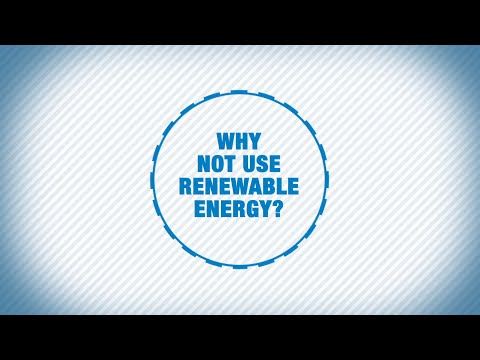 Why not use renewable energy?