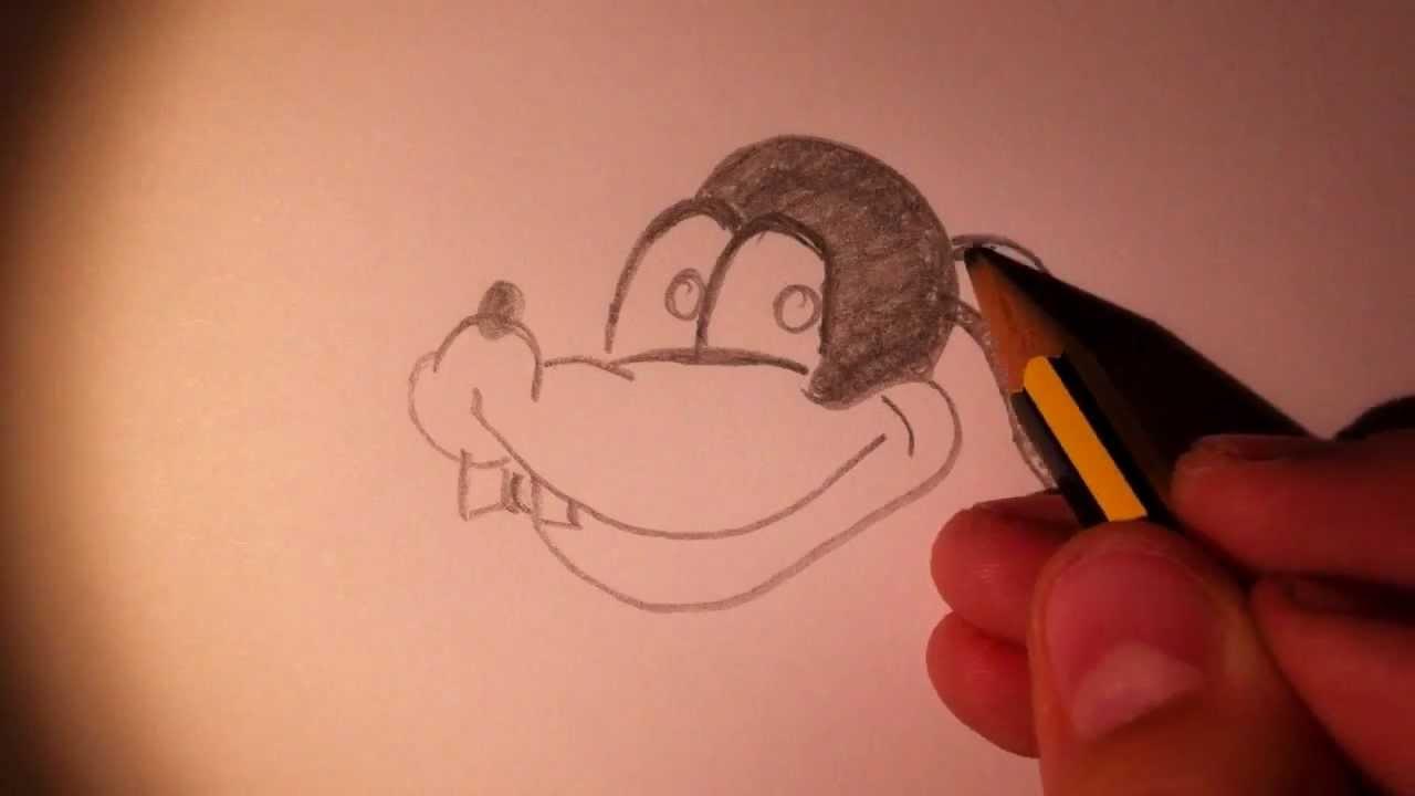 goofy zeichnen goofy malen zeichnen f r anf nger youtube. Black Bedroom Furniture Sets. Home Design Ideas
