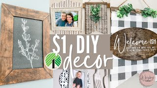 DIY Dollar Tree Modern Farmhouse Decor  + How to paint foam board to look like wood