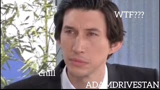 adam driver being annoyed by his co-workers for 3 minutes straight