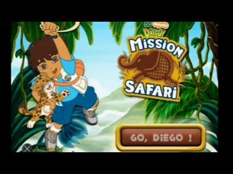 """[Ps2] Introduction du jeu """"Go Diego ! Mission Safari"""" de 2K Games ..."""