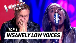 Most UNEXPECTED LOW & DEEP VOICES in The Voice