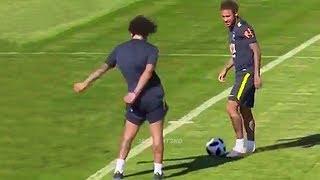 Funny Moments in Training #2 ● Marcelo, Mbappe, Neymar, Ronaldo