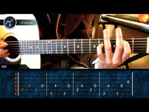 Como tocar One METALLICA en Guitarra Acustica (HD) Tutorial Intro