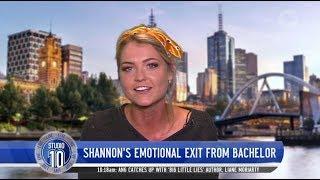 Shannon Looks Back On Emotional 'Bachelor' Farewell | Studio 10