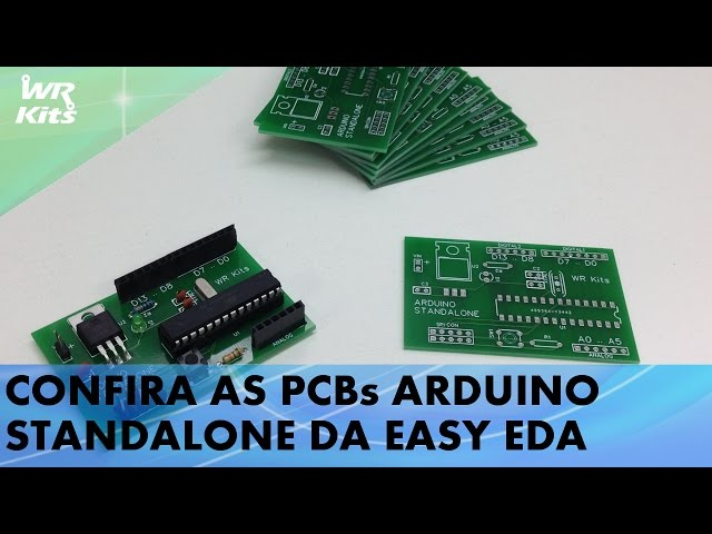 CHEGARAM AS PCBs ARDUINO STANDALONE DO EASY EDA!