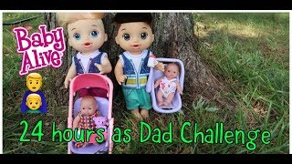 24 Hours as Dad CHALLENGE  Baby alive videos