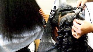 CUT IT, CUT IT, CUT IT! ✂️ + WAND CURLS ON 4A NATURAL HAIR #SALONWORK