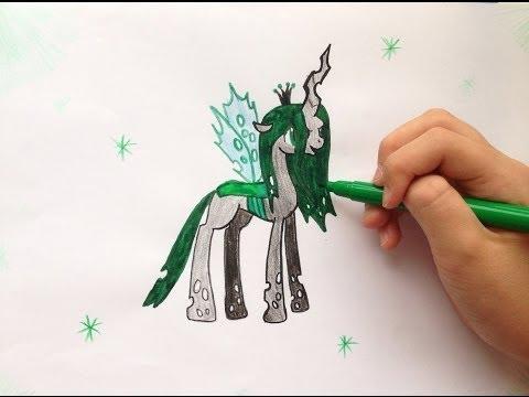 Как Нарисовать Пони Кризалис ♥