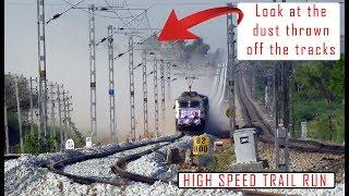 HIGH SPEED TRACK INSPECTION on Bangalore - Guntakal line | Indian Railways