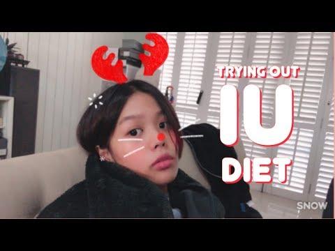 ลดน้ำหนักตามดาราเกาหลี l Trying out IU Diet!! [VLOGMAS DAY7]