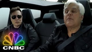 Elon Musk And Jay Leno Hop In The 2021 Tesla Cybertruck | Jay Leno's Garage