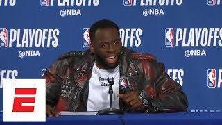 Draymond Green goes off after reporter asks about Warriors 'wanting' Rockets | ESPN