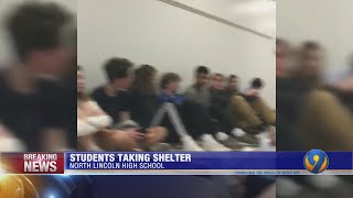 Students shelter in place during tornado warning