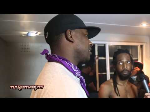 Skepta & Boy Better Know backstage - Westwood