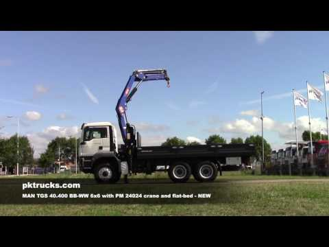 ma3061 MAN TGS 40.400 6x6 with PM crane