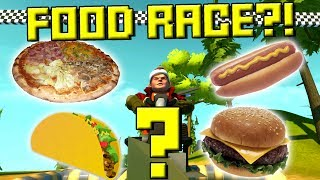RANDOM FOOD CAR RACE! (Vote for your Favorite!) - Scrap Mechanic Multiplayer Monday Ep47