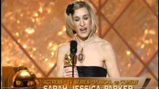 Sarah Jessica Parker Wins Best Actress TV Series Musical or Comedy - Golden Globes 2002