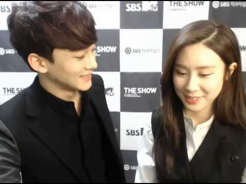 140218 SBS MTV The Show 더쇼 Star Live Chat ZhangLiYin(장리인) & EXO-M Chen(첸)