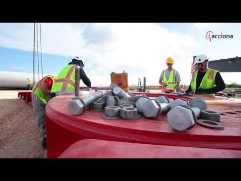 First turbines at San Roman Wind farm (Texas) - ACCIONA