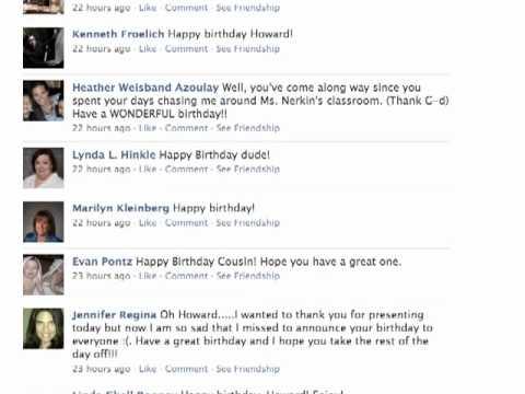 Facebook Birthday Bomb