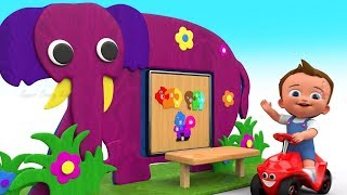 Baby Learning Colors Shapes & Numbers with Wooden Elephant Puzzle ToySet 3D Kids Toddler Educational