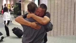 Father and son reunion after 18 years.