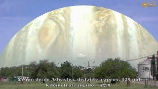 Cómo se vería el planeta Júpiter desde alguna de sus lunas