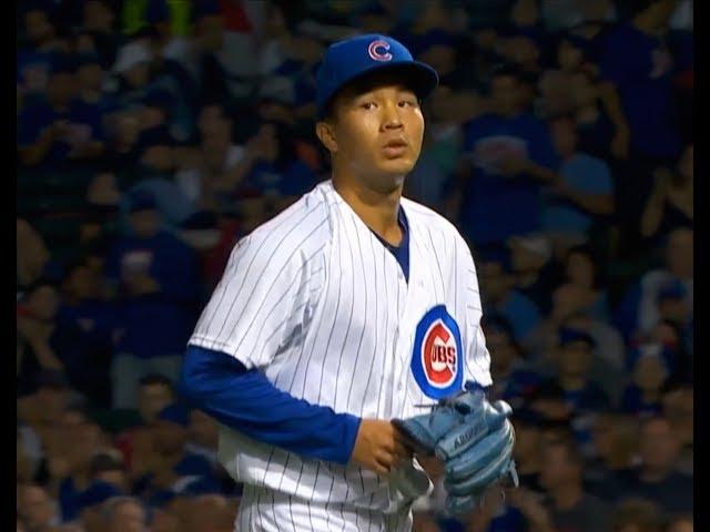 MLB/夢想成真 小熊開訓曾仁和與達比修傳接球