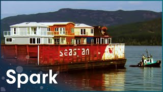 How To Move Floating Mansions Across The Sea   Huge Moves   Spark