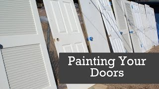 HOW TO SPRAY DOORS. Painting Doors With A Paint Sprayer. Spraying Interior Doors.