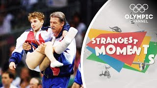 Kerri Strug's Unforgettable Determination to Win Gymnastics Olympic Gold | Strangest Moments