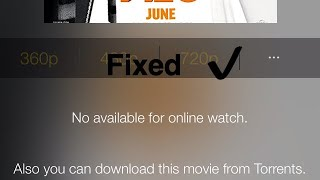 How To Fix No Available For Online Watch On Movie Box For iOS Without Jailbreak