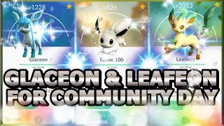 SHINY LEAFEON & GLACEON IN POKEMON GO FOR EEVEE CD? | ALL EEVEE EVOLUTION NAME TRICKS