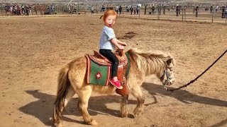 Adley rides BABY SPIRIT the horse!! Family day play with farm animals! - YouTube