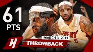 The Game MASKED LeBron James BECAME a LEGEND 2014.03.03 vs Bobcats - 61 Points, EPIC NIGHT!