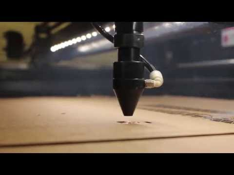 AP Lazer: Watch us Cut Cardboard!