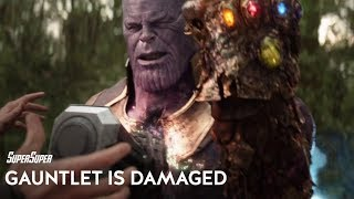 Thanos & The Infinity Gauntlet 'Permanently' Damaged   SuperSuper