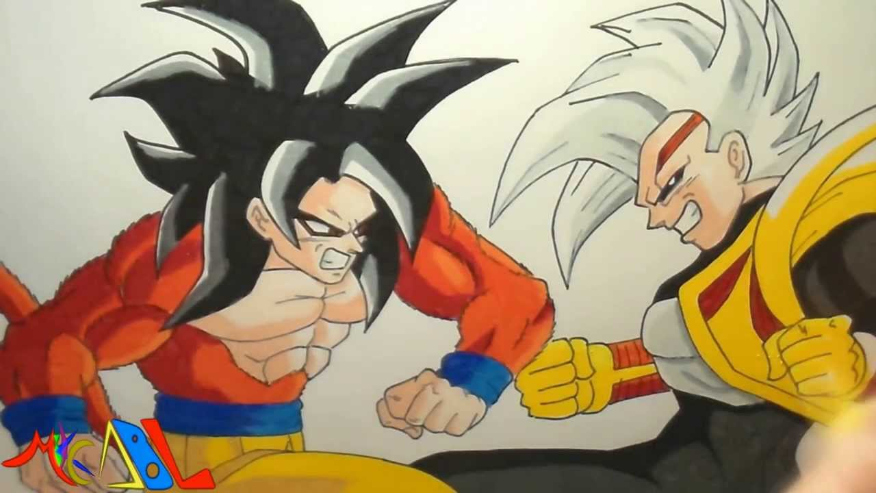 Dibujando a: Vegeta Baby Vs Goku SSJ4 - YouTube