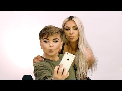 Kim Kardashian West Stops by Reuben's Makeup Tutorial