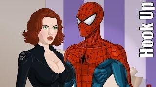 Cartoon Hook-Ups: Spider Man and Black Widow