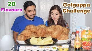 Golgappa Challenge With 20 Flavours | Pani Puri Eating Competition | Life With Amna