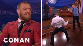 Conor McGregor Demos His Capoeira Kick On Conan  - CONAN on TBS