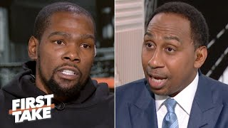 Kevin Durant on Steve Kerr, NBA Finals regrets, Warriors medical staff | First Take