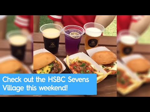 Some of the food and drink options at the HSBC Sevens Village