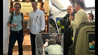 Doctors on plane save life with makeshift ventilator