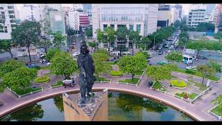 Fly Over Ho Chi Minh City - Saigon - Vietnam Best Aerial Drone Flycam Footage 1080p HD