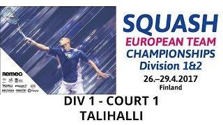 2017 ETC Div-1 Day 1 Main court