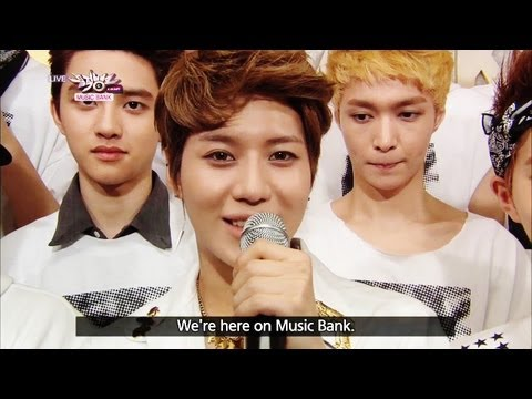 Hot Backstage! with EXO & Taemin of SHINee (2013.06.29) [Music Bank w/ Eng Lyrics]