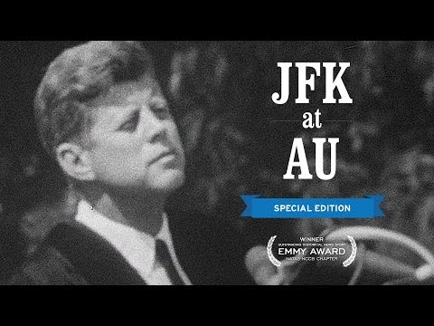 JFK at AU Delivers Commencement Address on June 10, 1963